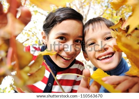 preteen boy in fall time Stock photo © Lopolo