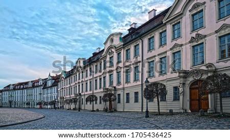 広場 ドイツ 市 センター 家 建物 ストックフォト © borisb17