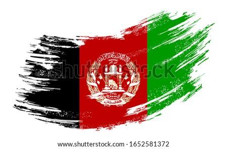 Afganistan bayrak beyaz arka plan imzalamak ülke Stok fotoğraf © butenkow