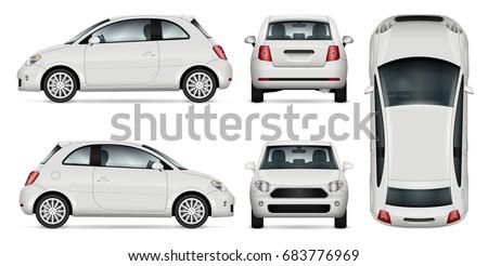 White car vector template Stock photo © YuriSchmidt