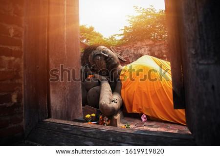 Uyku Buda Tayland yaz gün arka plan Stok fotoğraf © bloodua