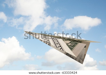 Dollar avion herbe verte environnement conservation argent Photo stock © devon