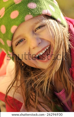 Portrait of a cute little girl by wintertime Stock photo © photography33