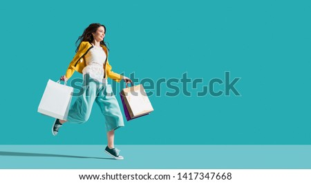 On sale - woman in a shopping center Stock photo © experimental