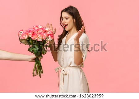 Young brunette with flowers Stock photo © photography33