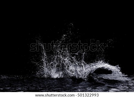 Water splash isolated on white Stock photo © ozaiachin