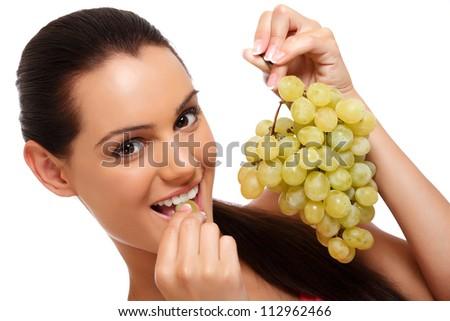 preto · uvas · isolado · branco · natureza · fruto - foto stock © acidgrey
