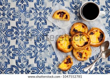portuguese egg tart stock photo © witthaya