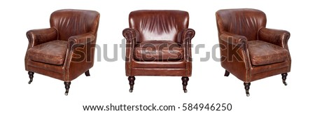 Stock photo: Leather armchairs
