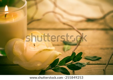 Scented candles attributes rest relaxation Stock photo © fotoaloja