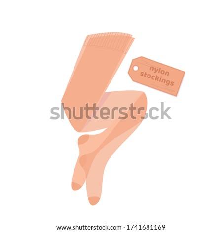 Kahverengi stoklama ince genç kadın sırf vücut Stok fotoğraf © disorderly