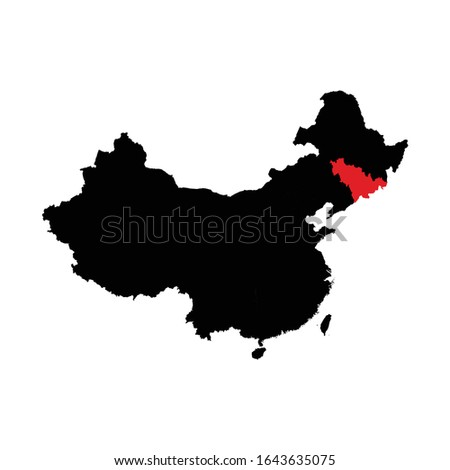 Map of People's Republic of China - Jilin province Stock photo © Istanbul2009