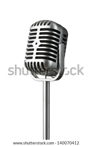 Professional Vintage microphone isolated Stock photo © shutswis