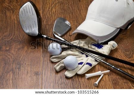 Golfe branco tabela esportes bola Foto stock © CaptureLight