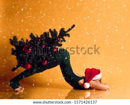 Ritratto femminile atleta Natale costume Foto d'archivio © wavebreak_media