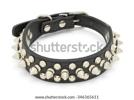 leather studded collar Stock photo © cynoclub