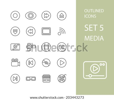 Icônes léger design modernes ligne Photo stock © sidmay