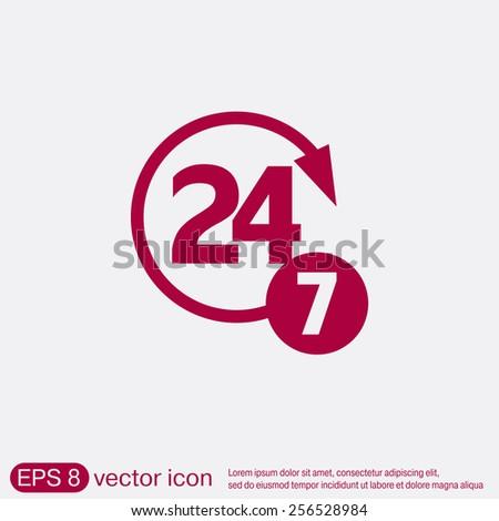 24*7  icon Stock photo © get4net
