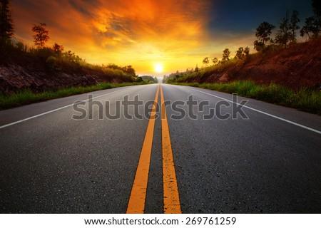 Сток-фото: шоссе · декораций · дороги · Германия · осень · время