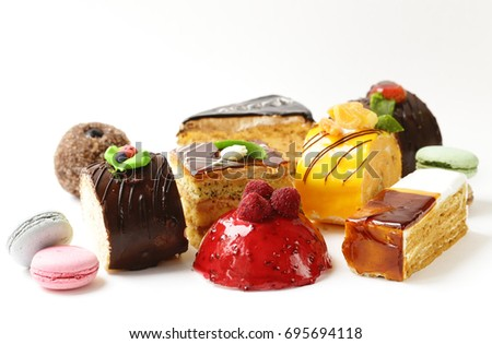 Finom torta édes desszert boldog csokoládé Stock fotó © fanfo