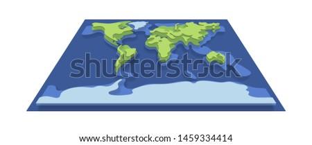 земле планеты топография изометрический икона вектора Сток-фото © pikepicture