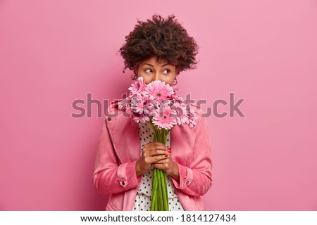 model with flower Stock photo © zastavkin