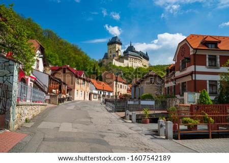 Kale Çek Cumhuriyeti güzel görmek ev bahar Stok fotoğraf © tannjuska