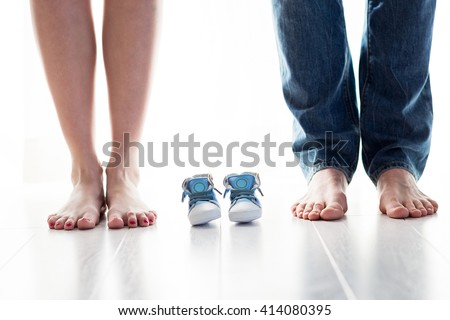 Happy family, parents waiting for a baby  stock photo © pedromonteiro