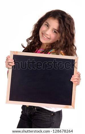 黒板 孤立した 白 古い 木製 木材 ストックフォト © compuinfoto
