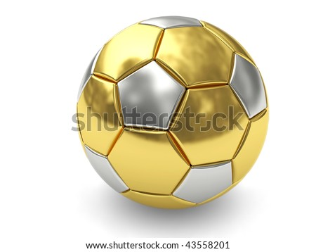 3d Trophy On Top Of Soccer Ball Photo stock © oneo