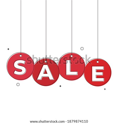 red balls with percent   super sale stock photo © oakozhan