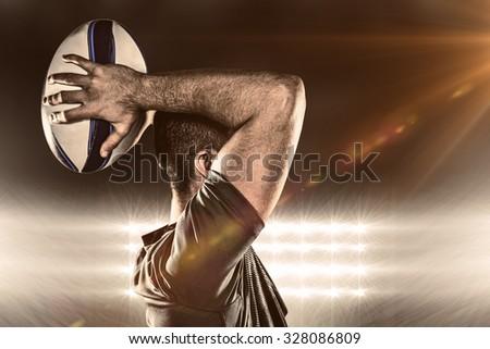 Athlete throwing rugby ball Stock photo © wavebreak_media