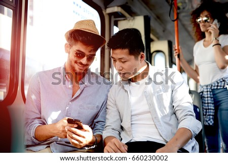 businessman sitting at stop happy stock photo © is2
