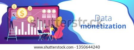 Data monetization concept vector illustration. Stock photo © RAStudio