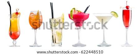 Aardbei cocktail glas zomer drinken Rood Stockfoto © furmanphoto