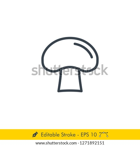 Mushrooms Icon Vector Outline Illustration Stock photo © pikepicture
