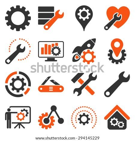 Plantas ferramentas os ícones do web usuário Foto stock © ayaxmr