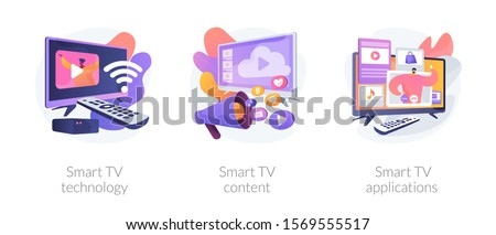 Entertaining digital video content vector concept metaphors. Stock photo © RAStudio