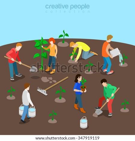 Tree planting vector concept metaphor Stock photo © RAStudio