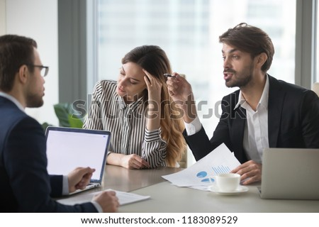 Annoyed businessman Stock photo © leeser