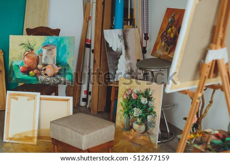 Multiple image of  female painter Stock photo © photography33