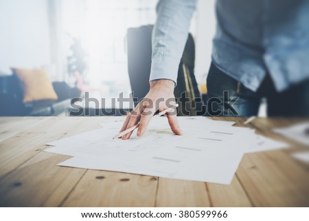 Businessman writing on his clipboard Stock photo © photography33