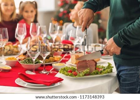 Senior Man Eats Salad - Closeup Stock photo © lisafx