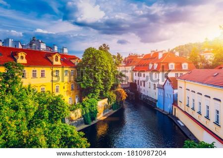 kanal · Prag · görmek · yaz · üzerinde · nehir - stok fotoğraf © zhukow