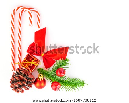 christmas ball on the fir branch on the holiday lights background stock photo © maxpro