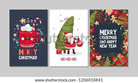 Foto stock: Natal · cartão · eps · 10 · luz · flocos · de · neve