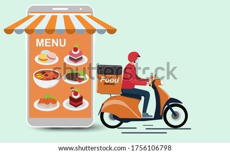 flat type delivery menmoney stock photo © toyotoyo