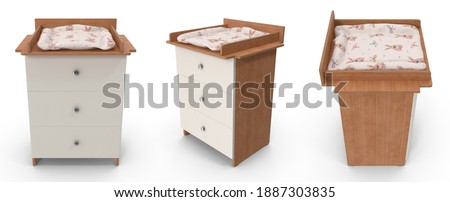 Ingesteld verschillend hout Blauw woonkamer moderne Stockfoto © magraphics