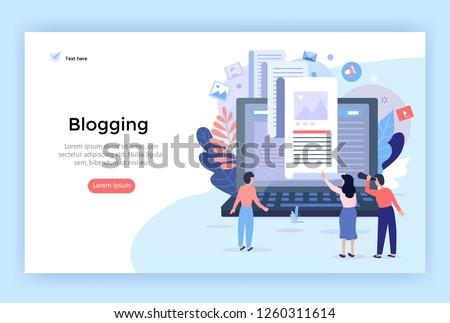 Shared document concept landing page. Stock photo © RAStudio
