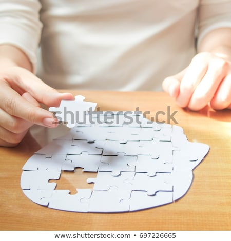 головоломки ума Идея бумаги человек Сток-фото © Lightsource